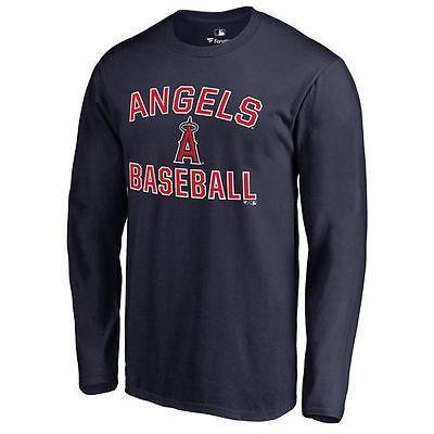 ファナティックス ブランディッド ベースボール MLB 野球 アメリカ USA 全米 ロサンゼルス エンジェルズof Anaheim ネイビー Victory Arch 長袖 Tシャツ