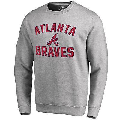 ファナティックス ブランディッド ベースボール MLB 野球 アメリカ USA 全米 Atlanta Braves Ash Victory Arch プルオーバースゥエットシャツ
