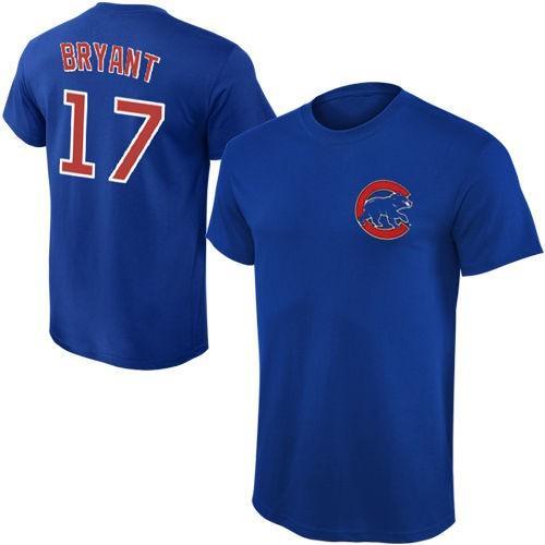 マジェスティック ベースボール MLB 野球 アメリカ USA 全米 Majestic Kris Bryant Chicago Cubs ユース Royal Player Name Number Tシャツ