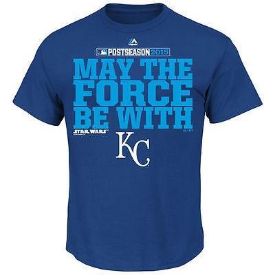 マジェスティック ベースボール MLB 野球 アメリカ USA 全米 Majestic Kansas City Royals Royal 2015 Postseason Force Be ウイズ Tシャツ
