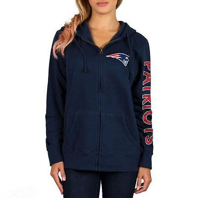 NFL Youth Girls New England Patriots Full Zip Fleece Team Pink Hoodie