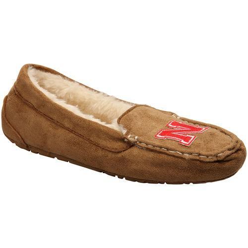 ルネッサンス カレッジ スポーツ NCAA アメリカ USA 大学 Nebraska Cornhuskers レディース Chestnut Moccasin Slippers