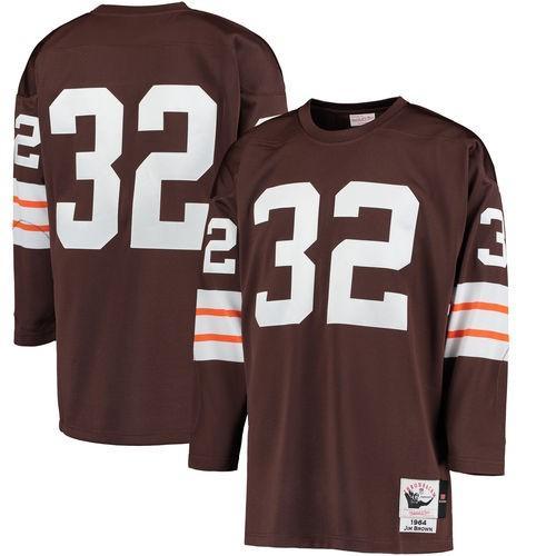買得 ミッチェル ネス フットボール メジャー USA 全米 アメリカ NFL Mitchell Ness Jim ブラウン Cleveland ブラウンズ ブラウン 1964 オーセンティック ジャージ, 港木材 2f98a5ef