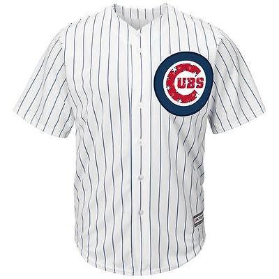 マジェスティック ベースボール MLB 野球 アメリカ メジャー 全米 Majestic Chicago Cubs ホワイト Stars ストライプス 4th of July Cool Base Jersey