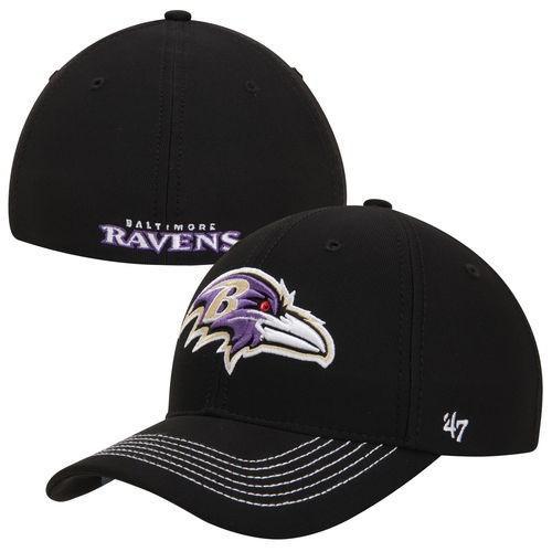 フットボール NFL アメリカ USA 全米 メジャー フォーティセブン '47 Brand Baltimore Ravens 黒 Game Time Closer Flex Hat