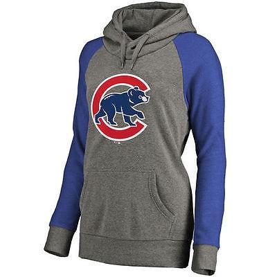 満点の 野球 - MLB Chicago Cubs レディース Ash Primary Logo Raglan スリーブ Tri-Blend プルオーバーパーカー, 木材倉庫 ムック 7a5cdae4