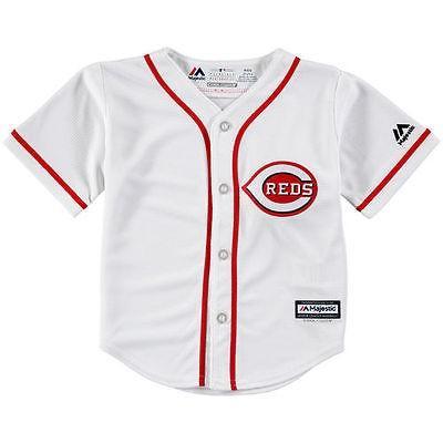 ベースボール MLB 野球 アメリカ USA メジャー マジェスティック Majestic Cincinnati 赤s Toddler 白い Official Cool Base Jersey