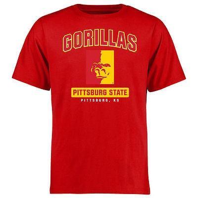 スポーツ ファン ファン ファン ウェア レプリカ ユニフォーム 応援 カレッジ NCAA Pittsburg State Gorillas 赤 Big Tall Campus Icon T Shirt 1ab