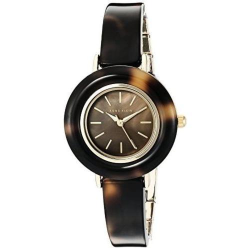 人気商品の 腕時計 アンクライン AK Anne Klein AK/2524BMTO レディース べっ甲調 レジン バングル 腕時計, 来福商店/靴クリームインソール 6abfe06a