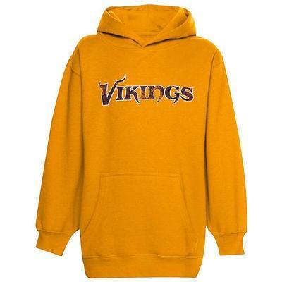フットボール メジャー USA 全米 アメリカ NFL アウタースタッフ Minnesota Vikings ユース Faded Wordmark パーカー ゴールド