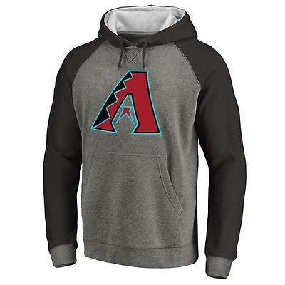 想像を超えての 全米 アメリカ メジャー 野球 MLB ファナティックス Arizona ダイヤモンドbacks Ash Primary Logo Raglan スリーブ Tri-Blend プルオーバーパーカー, 靴のマーロー 4b663f9e