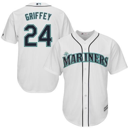 ベースボール USA 全米 アメリカ メジャー 野球 MLB マジェスティック Majestic Ken Griffey Jr. Seattle Mariners ホワイト Cool Base Player Jersey