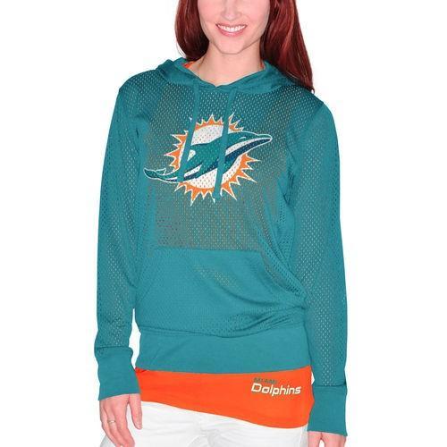 贅沢 フットボール NFL USA Set アメリカ Miami NFL Tシャツ Dolphins レディース アクア Holey Hooded Tシャツ タンクトップ Set, ほくべい:d9fb0538 --- airmodconsu.dominiotemporario.com
