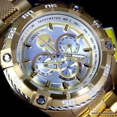 お手頃価格 腕時計 インヴィクタ Invicta Marvel Punisher Speedway Viper Chrono Gold Plated Steel 52mm Watch New, ReRe(安く買えるドットコム) 7dde3ac4