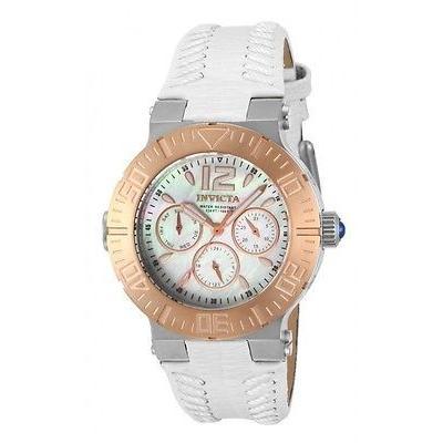 週間売れ筋 腕時計 インヴィクタ レディース Invicta14744 エンジェル MOP ダイヤル ローズ-tone ベゼル ホワイト レザー 腕時計, バギートライクショップセブン 97f85d1d