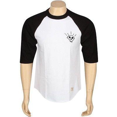 アスレチック ウェア ダイアモンドサプライ ダイヤモンド Supply Co Skull 2 Raglan Tシャツ (ブラック / ホワイト) B13P411BWT