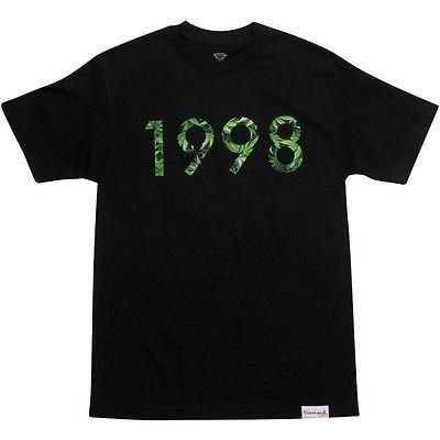 アスレチック ウェア ダイアモンドサプライ ダイヤモンド Supply Co 1998 Hemp Tシャツ (ブラック) B13P105BLK