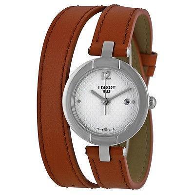 【即納&大特価】 ティソット 腕時計 Tissot Trend ピンキー シルバー ダイヤル ライト ブラウン レザー レディース 腕時計 T0842101601704, タカハタマチ 0af861a6