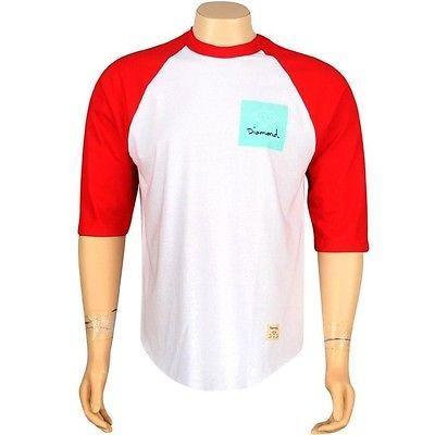 【予約販売】本 アスレチック ウェア ダイアモンドサプライ ダイヤモンド Supply Co OG Sign Raglan Tシャツ (ホワイト / レッド) SU1ROGSWRD, CASSETTE PUNCH 9b921714
