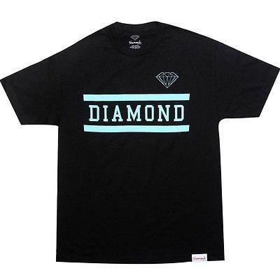 アスレチック ウェア ダイアモンドサプライ ダイヤモンド Supply Co Collegiate Tシャツ (ブラック) FA2CTBLK