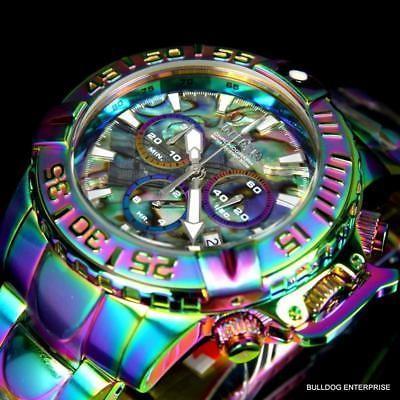 【値下げ】 腕時計 インヴィクタ Invicta Subaqua Noma II Abalone Iridescent Chronograph 47mm Limited Ed Watch New, 足助町 a61708b5