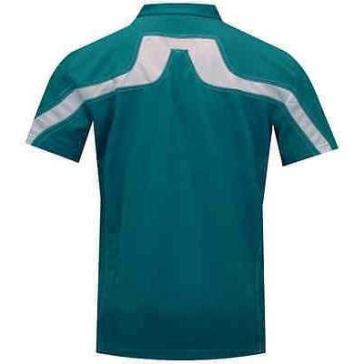 ゴルフウェア ジェイリンドバーグ NEW! J Lindeberg 2011 Lachlan RF Cool Wave Aqua Green Golf Polo Size L