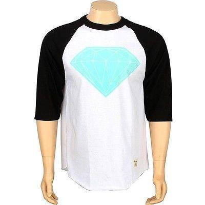 【特別セール品】 アスレチック (ホワイト ウェア ダイアモンドサプライ Brilliant ダイヤモンド Supply Co Big Brilliant ダイヤモンド Raglan Tシャツ (ホワイト/ ブラック) FA2BBRTWHBK, シレトコファクトリー:97d51646 --- airmodconsu.dominiotemporario.com