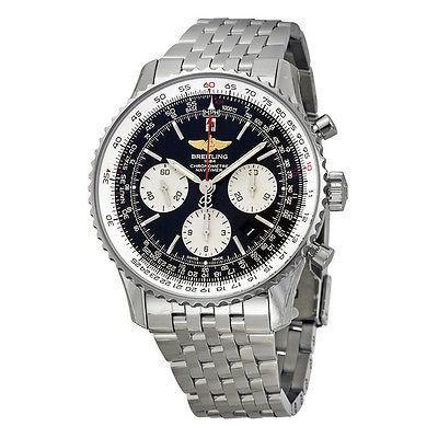 日本最大の ブライトリング 腕時計 Breitling Navitimer 01 ブラック ダイヤル ステンレス スチール メンズ 腕時計 AB012012-BB01SS, トヨノマチ 33aeaf5c