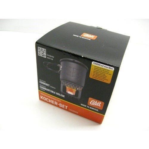 Esbit キャンプ用調理用品 ESBIT Anodized Aluminum SOLID FUEL COOKSET 19.5 oz Cooking Pot + Storage バッグ NEW