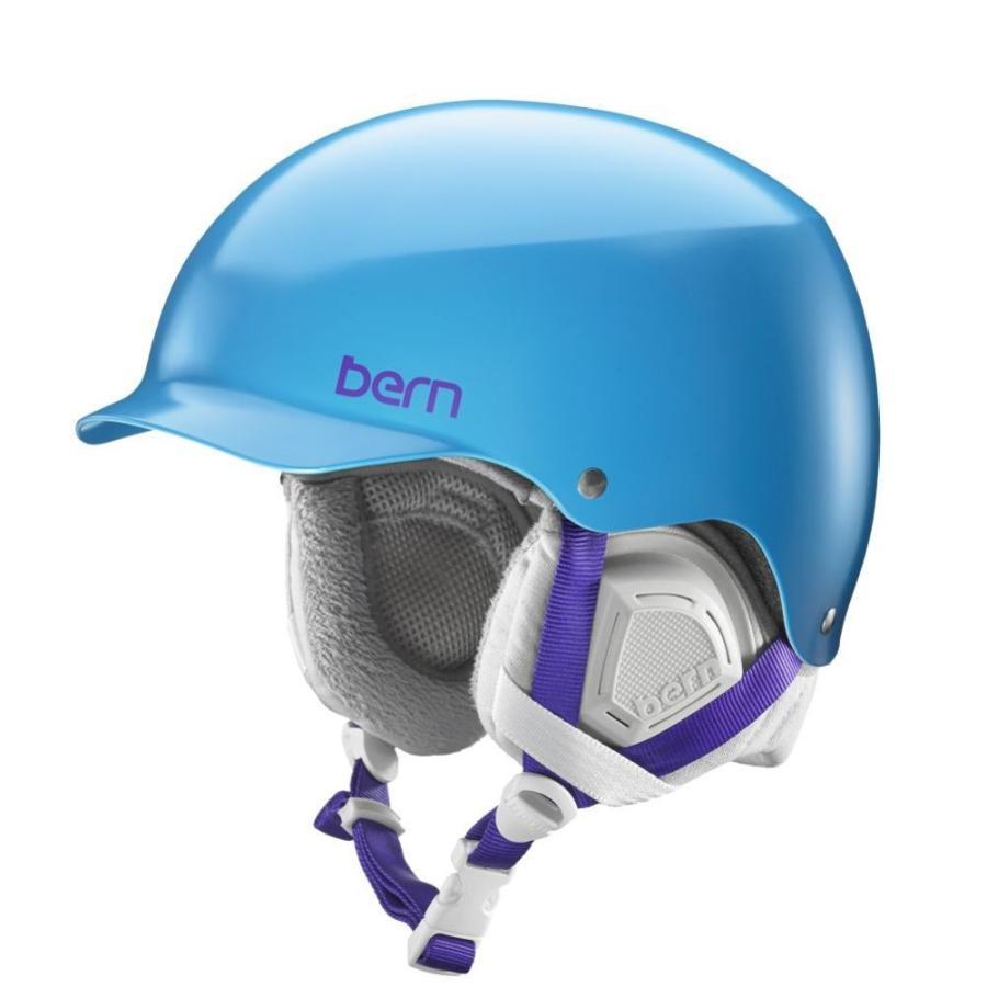 プロテクター Bern Muse レディース Helmet Protection Safety スキー スノーボードSatin Ocean Blue w/ Grey Liner