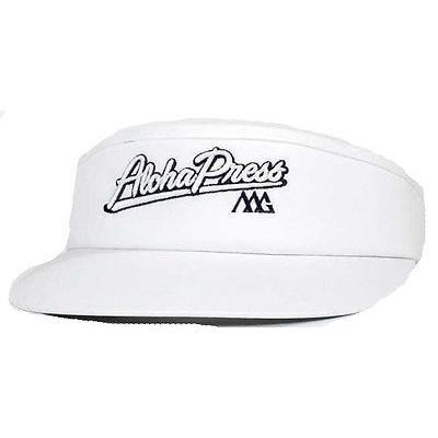 ゴルフバイザー 帽子 マットグレー Matte グレー Aloha Press Visor ホワイト ホワイト ホワイト -ゴルフ hat 749