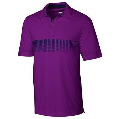 シャツ トップス セーター カッターアンドバック Cutter Buck Shutter プリント Polo パープル X-ラージ -メンズ ゴルフ shirt