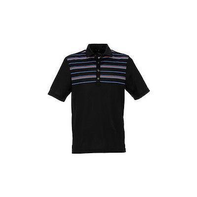 シャツ トップス セーター グレグ ノーマン Greg Norman Atlantic ストライプ Polo ブラック スモール -メンズ ゴルフ shirt