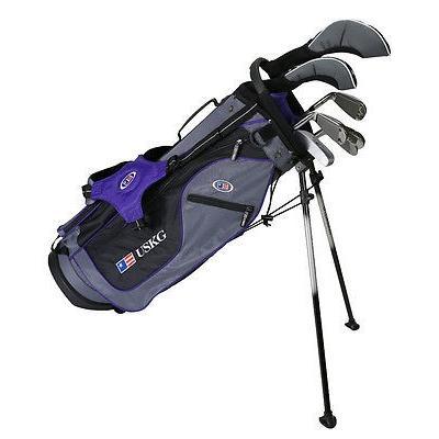ゴルフクラブバッグ U.S. キッズ US キッズ ULTRAライト 54 Inch 7 Club Stand バッグ jr. Set グレー-パープル RH ゴルフ set