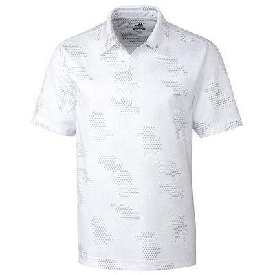 人気No.1 シャツ トップス セーター カッターアンドバック Cutter Buck Particle プリント Polo ホワイト ラージ -メンズ ゴルフ shirt, 農家の米 e10e89bd