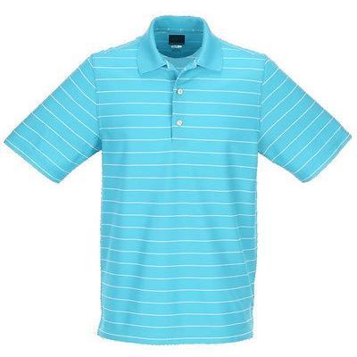 シャツ トップス セーター グレグ ノーマン Greg Norman Micro Pique ストライプ Polo ブルー ミディアム -メンズ ゴルフ shirt