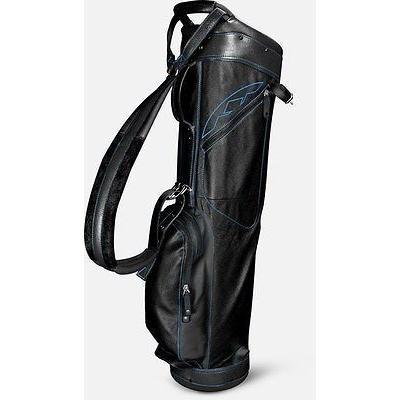 ゴルフクラブバッグ サンマウンテン Sun Mountain レザー Sunday バッグ ブラック/Cobalt -ゴルフ バッグ