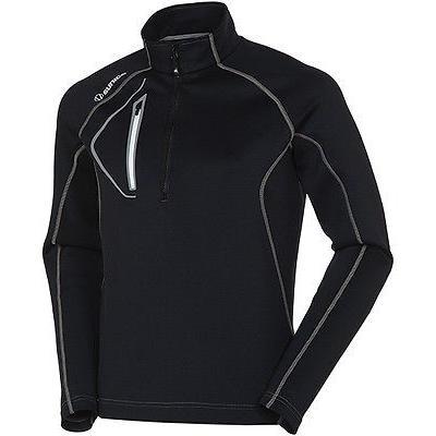 シャツ トップス セーター サンナイス Sunice Allendale ライトウェイト Thermal プルオーバーブラック ラージ- ゴルフ outerwear