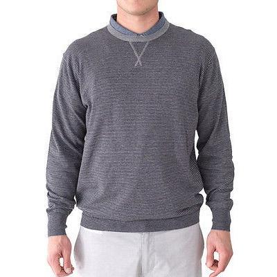 シャツ トップス セーター リンクソウル LinkSoul 長袖 セーター ブルー X-ラージ- ゴルフ アウターウェア