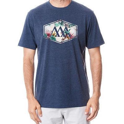 シャツ トップス セーター マットグレー Matte グレー Hex Aloha Tee ブルー ミディアム -メンズ ゴルフ shirt