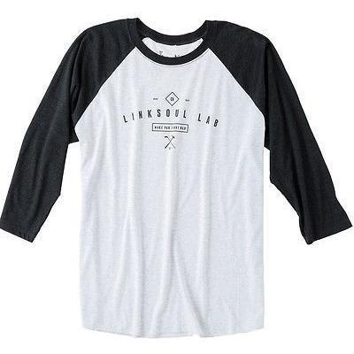 シャツ トップス セーター リンクソウル LinkSoul The Closer 3/4 Tee ブラック ラージ -メンズ ゴルフ shirt