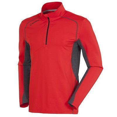シャツ トップス セーター サンアイス Sunice Sutter 1/2 ジップ プルオーバーFlame レッド/チャコール X-ラージ- ゴルフ outerwear