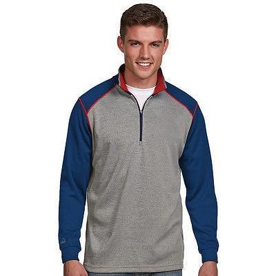 シャツ トップス セーター アンティグア Antigua Breakdown プルオーバー Graphite/Royal ミディアム- ゴルフ outerwear