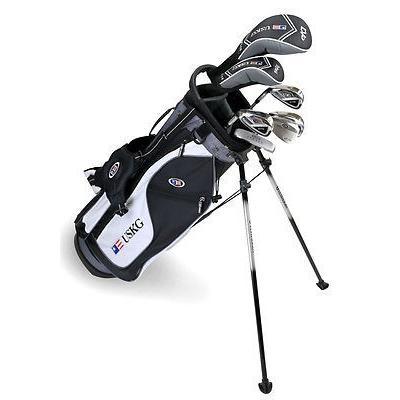 完成品 ゴルフバッグ ユーエスキッズ Set 57 US キッズ ULTRAライト 57 Inch 7 LH クラブ Stand バッグ Junior Set ブラック-ホワイト-グレー LH, elganカーマット:3d8d1544 --- airmodconsu.dominiotemporario.com