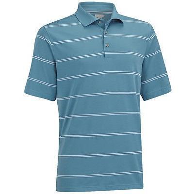 シャツ トップス セーター アシュワース Ashworth EZ-Sof ストライプ Polo ブルー/ホワイト スモール メンズ ゴルフ shirt