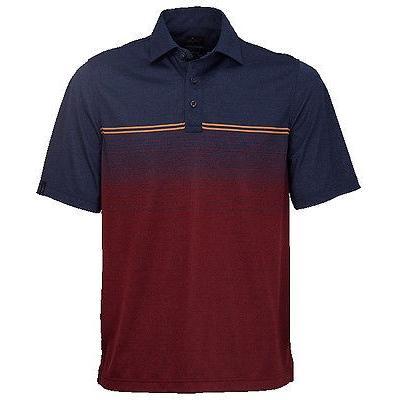 お得セット 距離計 スコープ グレグ ノーマン Greg Norman Loire Valley エンジニアード ストライプ Polo ネイビー Heather ミディアム ゴルフ shirt, 千歳村 133db32d