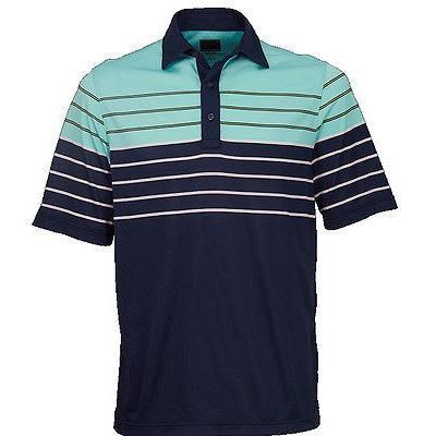 距離計 スコープ グレグ ノーマン Greg Norman St. Barth エンジニアード マルチ ストライプ Polo ネイビー X-ラージ ゴルフ shirt