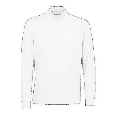 距離計 スコープ グレグ ノーマン Greg Norman ウェザーニット L/S Mock ホワイト XX-ラージ メンズ ゴルフ outerwear