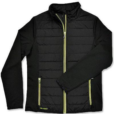 スーパーセール期間限定 シャツ トップス セーター スライゴ Sligo Performance Full ジップ ジャケット ブラック ラージ メンズ ゴルフ outerwear, エイヘイジチョウ 25ac3e57