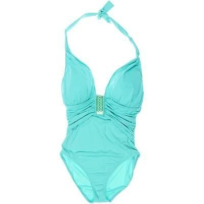水着 スイムウエア スポーツ Bleu Rod Beattie Bleu Rod Beattie 1340 レディース Solid Ruched Halter One-Piece Swimsuit BHFO